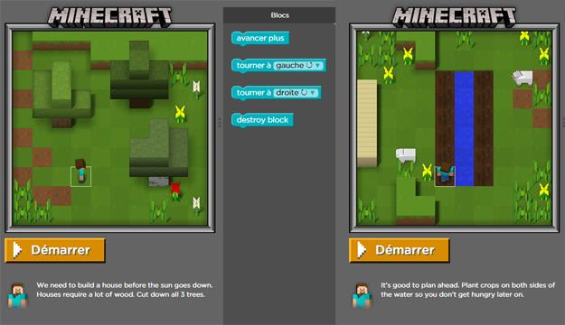 Faire une heure de code avec Minecraft