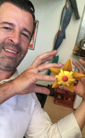 Un selfie avec Pokemon Go