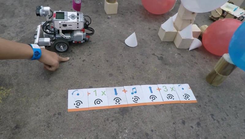 Jeu de carte pour faire déplacer un robot de Mickael Guého