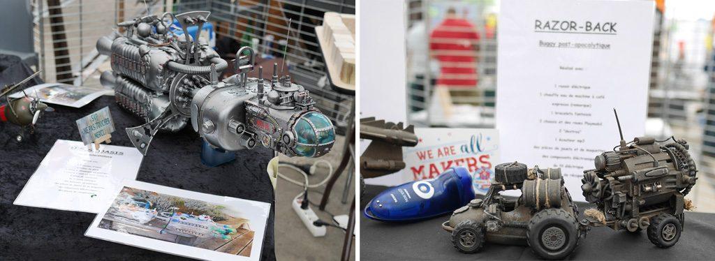 Maquette de science fiction au Maker Faire Nantes