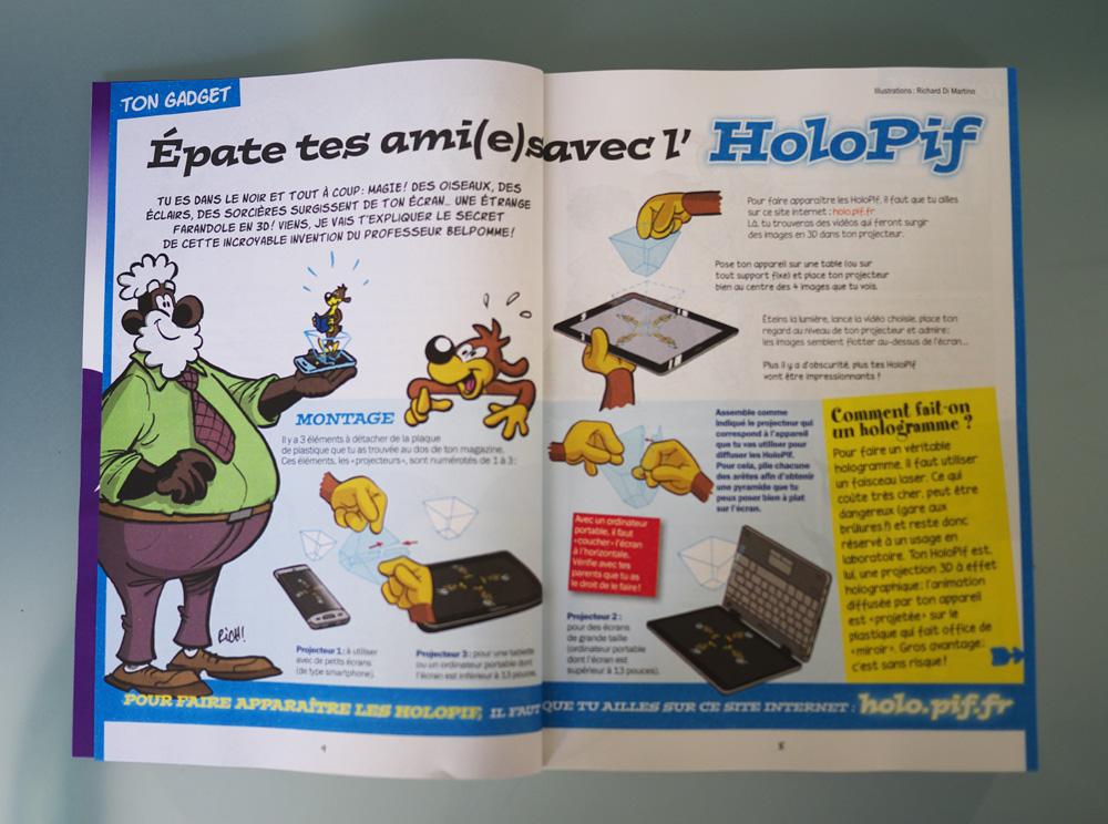 Mode d'emploi et explication de l'holopif, le projecteur d'hologramme