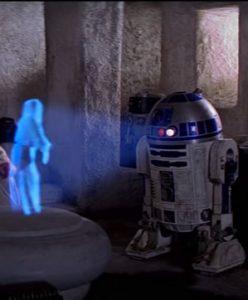 Message holographique de la Princesse Leia dans Star Wars