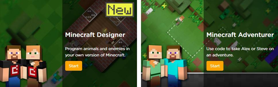 Apprendre à coder avec Minecraft Designer ou Aventurier