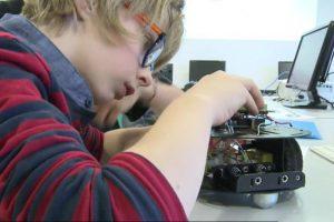 Atelier robotique à Stereolux (Nantes)