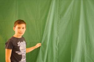 Un fond vert pour faire des effets spéciaux
