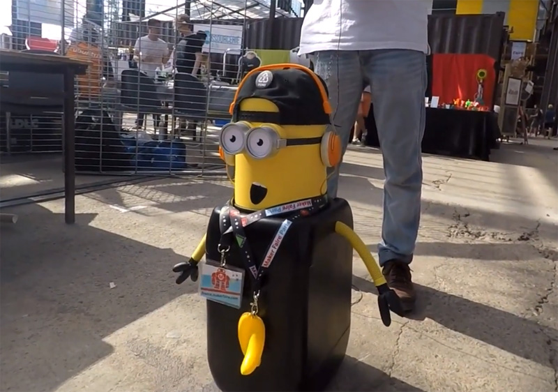 Robot Bimion à Maker Faire Nantes