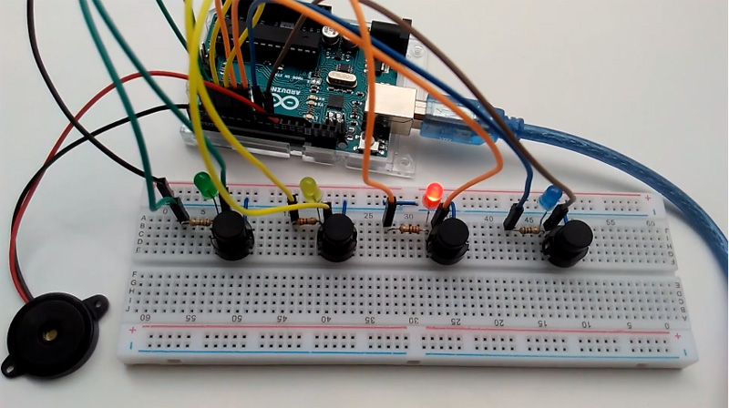 Faire un jeu musical Simon avec Arduino