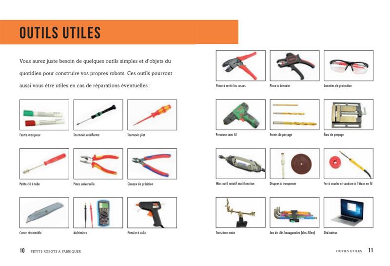 Tous les outils pour fabriquer un robot