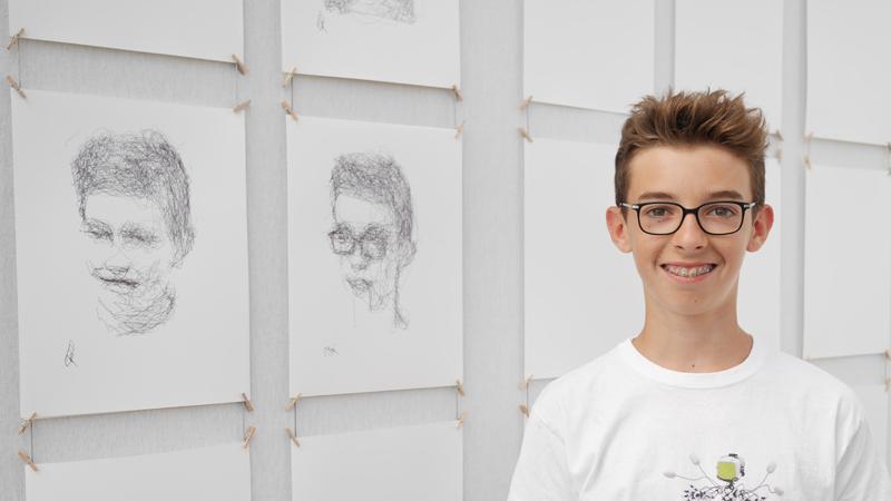 Crystobal et son portrait - Patrick Tresset