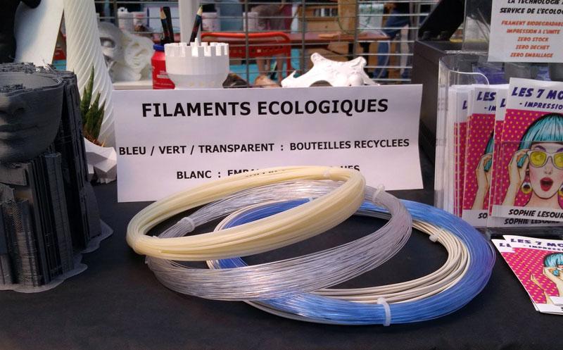 Filament écologique pour impression 3D
